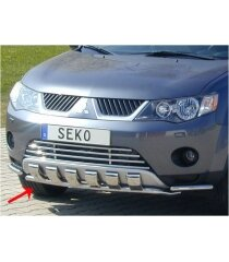 Защита на передний бампер Misubishi Outlander 2007- Seko
